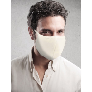 PASSION Reuseable Two Layer Cotton Face Mask, Light Yellow, One Size