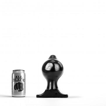 ALL BLACK Butt Plug AB74, Vinyl, Black, 18 cm (7 in)