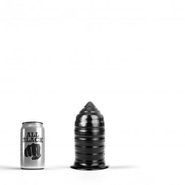 ALL BLACK Butt Plug AB85, Vinyl, Black, 16 cm (6,25 in)