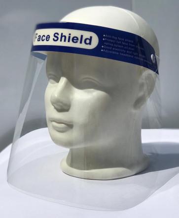 Gesichtsschutz Visier aus Kunststoff - Face Shield - transparentes Gesichts Schutzschild mit verstellbarem Gummiband