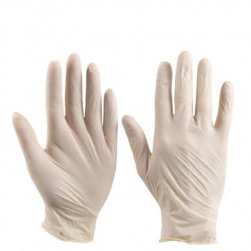 PH Shield GD05 Natural Latex Powder Free Disposable Gloves, Natural, Size M, 50 pcs