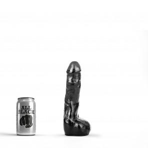 ALL BLACK Dildo Spencer, Vinyl, Black, 22 cm (8,6 in), Ø 4,5 cm (1,7 in)