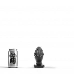 ALL BLACK Butt Plug, Vinyl, Black, 12 cm (4,7 in), Ø 5,4 cm (2,1 in)