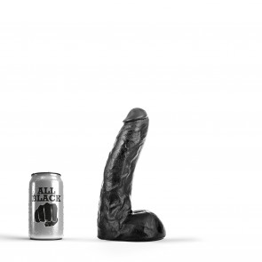 ALL BLACK Dildo Freddie, Vinyl, Black, 22 cm (8,5 in)