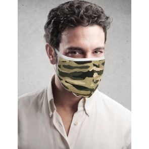 PASSION Reuseable Two Layer Cotton Face Mask, Camouflage, One Size