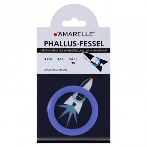 AMARELLE Phallus-Fessel, Latex Cockring, XL, blue