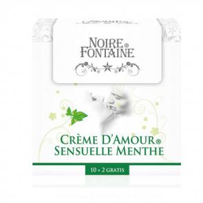 Noire Fontaine Crème D'Amour, Sensuelle Menthe, Intimate Massage Cream, 12 x 5 ml (0,17 fl.oz.)