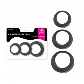 NMC Enhance Ornament, Silicone Cockrings, Grey, Ø 32/37/42 mm