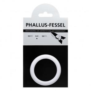 AMARELLE Phallus-Fessel, Latex Cockring, L, white