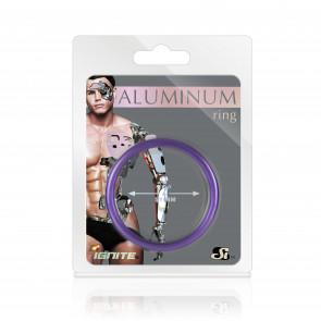 SI IGNITE Aluminium Cockring, 5,1 cm (2 in), Royal Purple