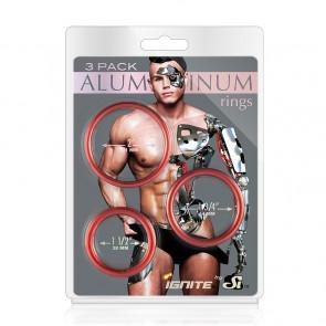 SI IGNITE Aluminium Cockring, 3 Pack, Rust