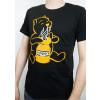 "Premium T-Shirt ""Sniffing Pooh"", Organic Cotton, Black/Yellow, S to XXL"