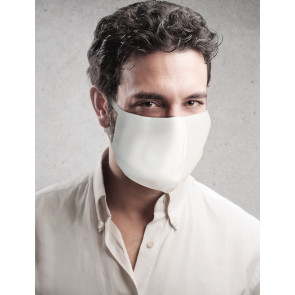 PASSION Reuseable Two Layer Cotton Face Mask, White, One Size