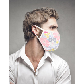 PASSION Reuseable Two Layer Cotton Face Mask, Floral Design, One Size